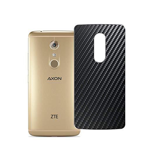 Vaxson 2 Unidades Protector de pantalla Posterior, compatible con ZTE AXON 7 AXON7, Película Protectora Espalda Skin Cover - Fibra de Carbono Negro