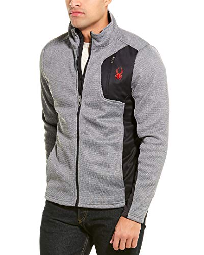Spyder Mens Full Zip Jacket, L, Grey