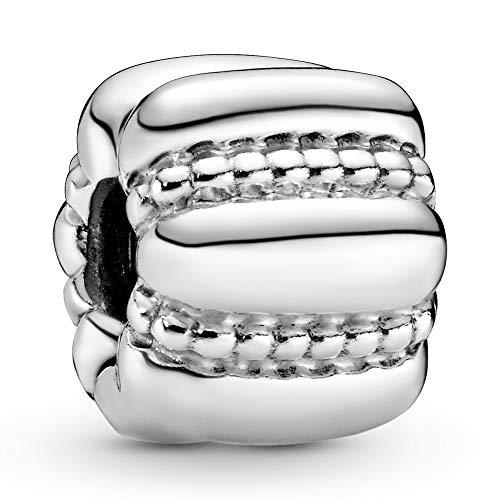 Pandora Silber Clip Punkte und Rillen 790446