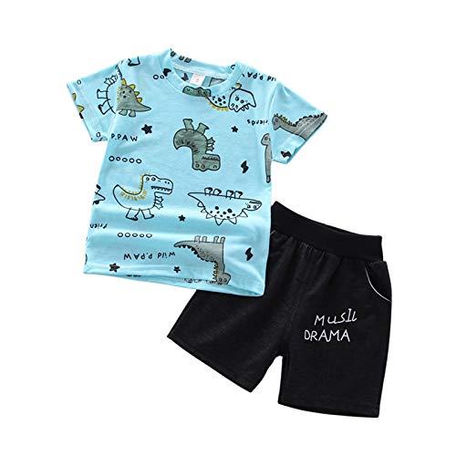Conjunto de ropa de verano para bebé, 2 piezas, manga corta, diseño de rayas, camiseta y vaqueros, pantalones cortos, traje de verano pequeño, traje de bautizo de 0 a 3 años