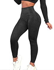❤️【Squat Proof】-- High quality 4 way stretch fabric, reinforced sewing eliminates side seams and and a gusset crotch reduces chafing. The power flex seamless leggings offering form and support for your next workout, wherever that is. ❤️【Pro Sports Fa...