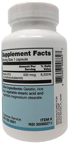 Vitacost Vitamin B-12 Methylcobalamin - 500 mcg - 300 Capsules