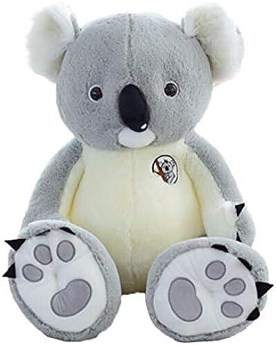 NOWPST Peluches en Peluche Koala Jouets en Peluche Enfants Cadeau en Peluche Cadeau Poupée gris Hauteur 80 Cm