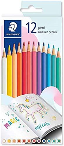 STAEDTLER Crayons de couleur sans bois - Boîte de 12 couleurs pastel