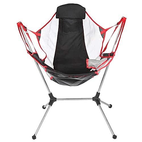KUYH Silla plegable portátil al aire libre, silla de camping plegable de aluminio ultraligero de la pesca del viaje, silla de playa de tela Oxford 900d