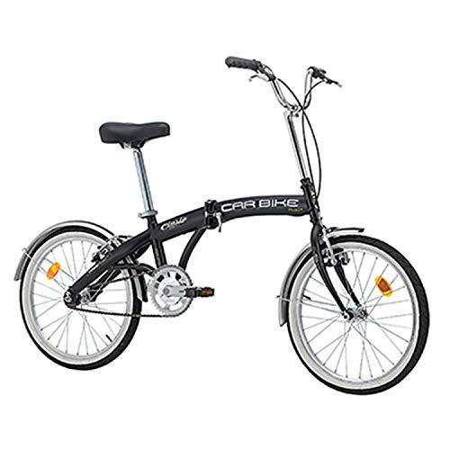 CINZIA Velo PLIANT 20 Car-Bike Acier MONOVITESSE Noir Mat Taille 31