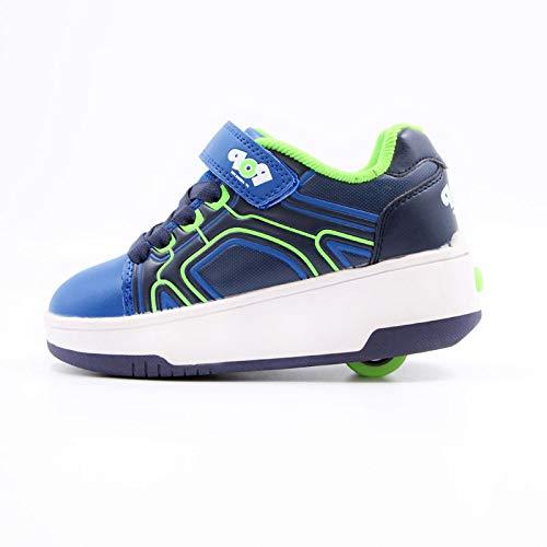 nnnn Skateboardschoenen met wieltjes, 2-in-1 multifunctionele schoenen, voor jongens en meisjes, outdoor sport, fitnessschoenen, skateboardschoenen, skateboardschoenen, schoenen, rollerblades