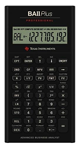 Texas Instruments BA II Plus Professional calculadora financiera avanzada