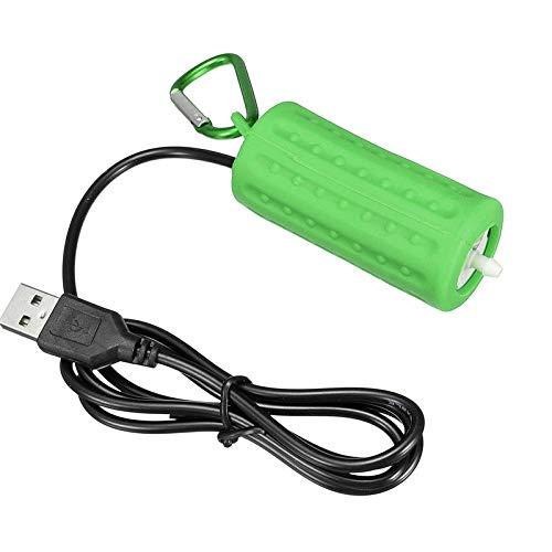 Zay Luay Inicio Portátil Mini USB Aquarium Fish Tank Oxygen Air Bomba de Aire Mute Suministros de Ahorro de energía USB Bomba de oxígeno (Color : Army Green)