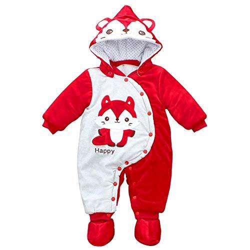 Per Rompers Bébés À Capuche Hiver Fox Forme Mignon Bonhomme De Neige Vestes Enfants Vêtements Thermiques