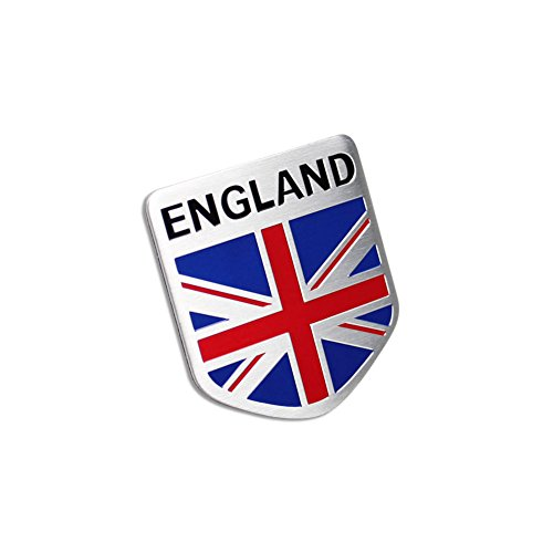 Car Alloy Aluminum ENGLAND Britain Flag Shield Emblem Decal Badge Sticker