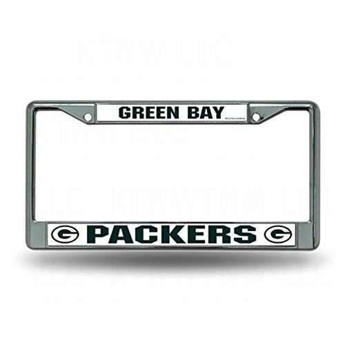 Green Bay Packers Metal Chrome License Plate Tag Frame Cover Football