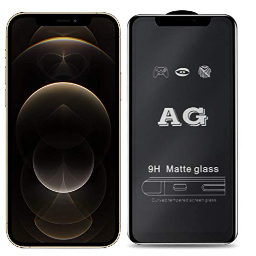 JumpStart iPhone 12 Pro Max Screen Protector Tempered Glass| Matte Finish OG Glass| Full Screen Coverage| [Case-Friendly] & [Easy Installation] Design for iPhone 12 Pro Max