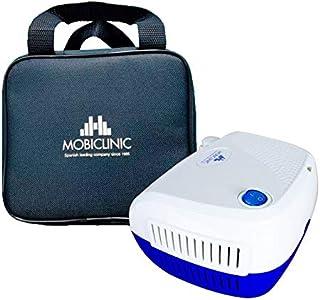 Nebulizador compresor, Mini, Blanco y azul, Neb-2, Mobiclinic