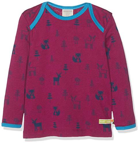 loud + proud loud + proud Kinder-Unisex Shirt Woll-Anteil, Druck Langarmshirt, Violett (Orchid or), 68