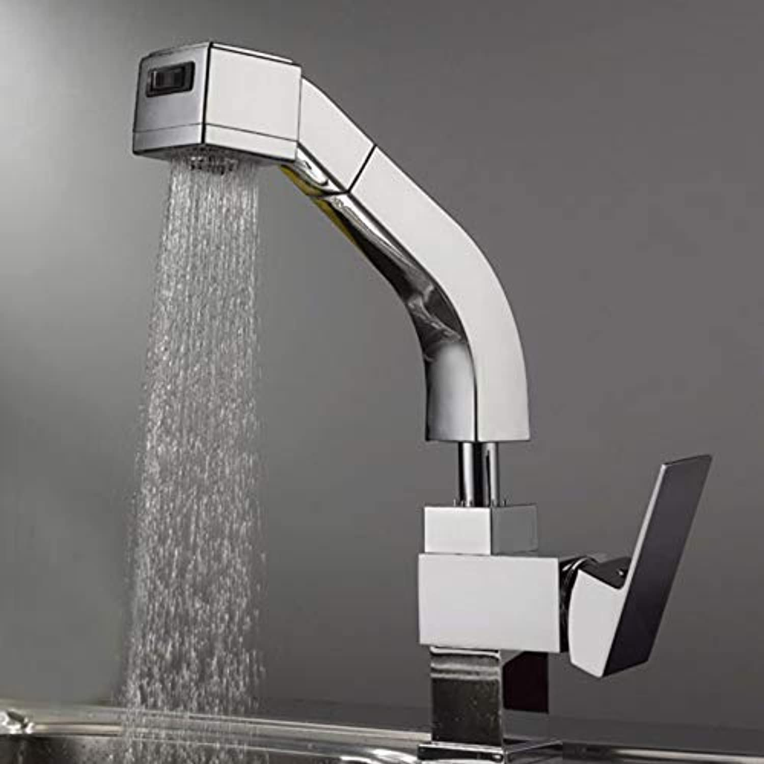 Features Kitchen Faucet, Pull Out Kitchen Faucet, Mixer for Kitchen Faucet Bf030 (color   -, Size   -)