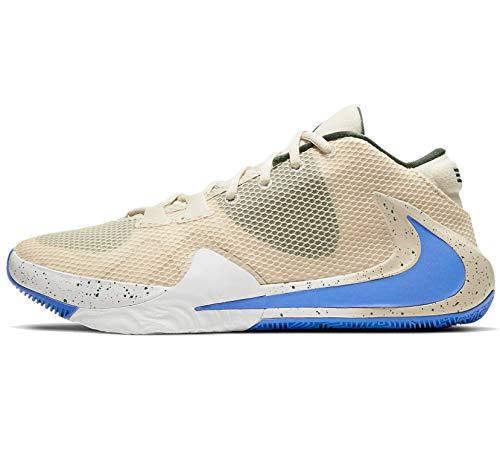 Nike Zoom Freak 1 - Zapatillas de baloncesto para hombre, azul (Crema clara/Azul Pacífico-blanco), 46 EU