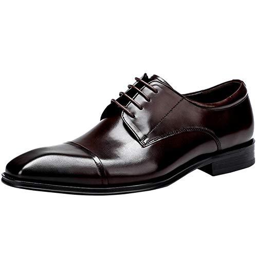EEFF Oxfords comerciales formales Calzado hombre, Calzado clásico disfrazarse Derby, de piel...