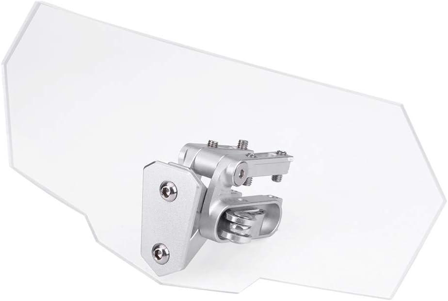 Parabrisas de la Motocicleta Universal Ajustable Transparente Parabrisas de la Motocicleta Deflector de Viento
