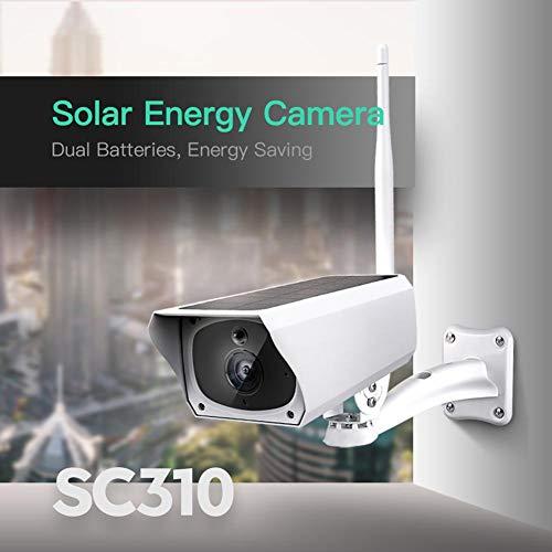 Fancyland Cámara IP WiFi, 1080P, Impermeable, cámara de Seguridad con visión Nocturna para Seguridad en el hogar, bebé/Mascotas, Audio bidireccional, alimentación Solar.