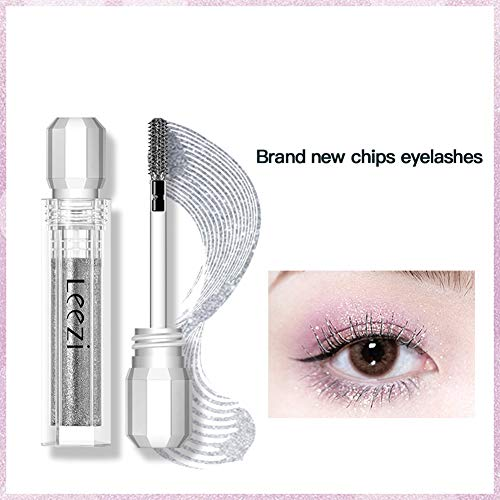 MeterMall Fashion For Glitter Volume Mascara Waterproof Quick Drying Eye Makeup 3g Black
