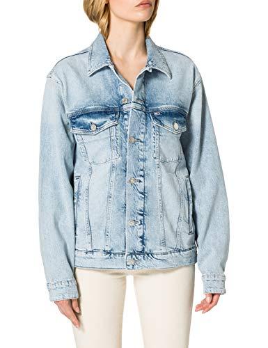Tommy Jeans Regular Trucker Jacket ALBCD Giacca, Ames Lb Com Destr, M Donna