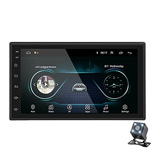 XINLEI Radio de Coche Doble DIN 2Din Radio de Coche Reproductor Multimedia Android 2 DIN GPS Bluetooth Autoradio WiFi Receptor estéreo Fit for Volkswagen Toyota Nissan(Color:1GB with 4 LED)
