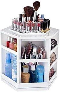 Big Capacity Rotating Acrylic Cosmetic Organizer - White