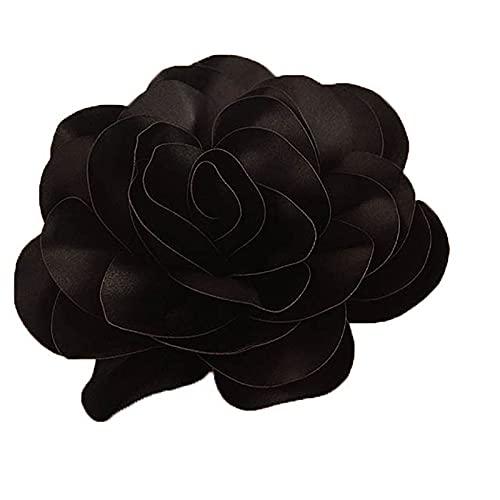 Broche de flores grandes de tela de flores para mujeres y hombres,...