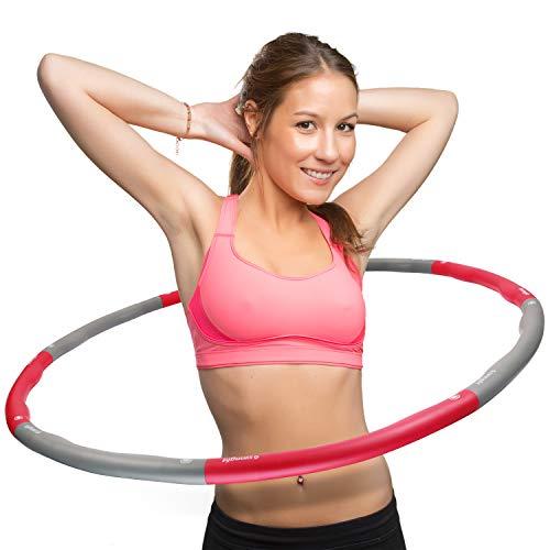 swingfit® Hula Hoop Reifen inkl. Tasche & Anleitung I Hoola Hup Reifen für Kinder & Erwachsene I Gymnastikreifen zum Abnehmen, Fitness, Massage (Original - 1,2kg)