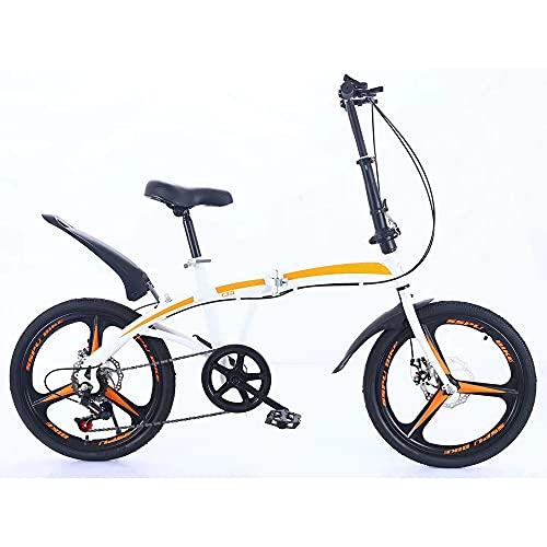 JieDianKeJi Bicicletas Plegables Neumático de aleación de Aluminio Integrado de 20 Pulgadas Portátil Ligero Ejercicio de Viaje en la Ciudad para Adultos Niños Regalos para niños Velocidad Variable