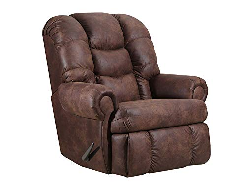 "Lane Stallion Big Man (Large) Comfort King Wallsaver Recliner in Dorado Walnut. Made for The Big Guy Or Gal. Rated for Up to 500 Lbs. Extended Length. 79"". Seat Width. 25"""