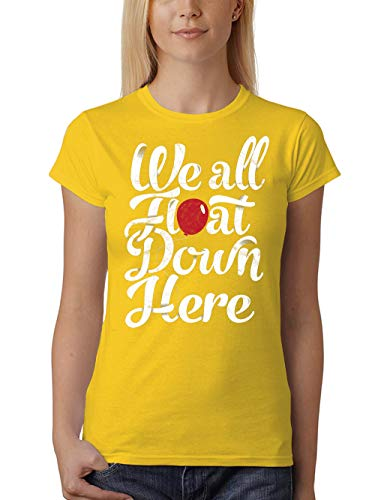 clothinx We All Float Down Here Damen T-Shirt Fit Gelb Gr. M