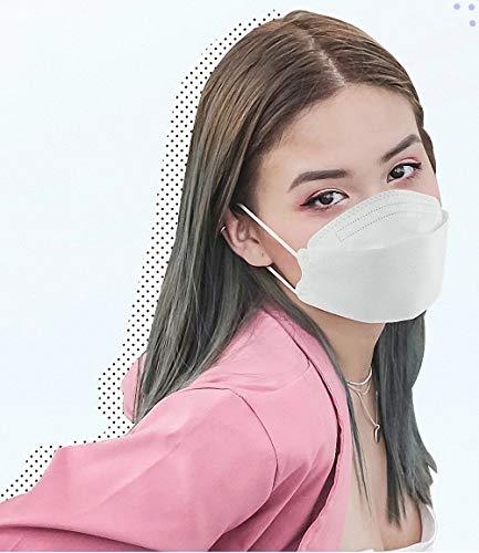 『HINCINK 20枚 個包装マスク 4層構造 不織布 通気性 超快適 立体型マスク 在庫あり (10, ホワイト)』の1枚目の画像