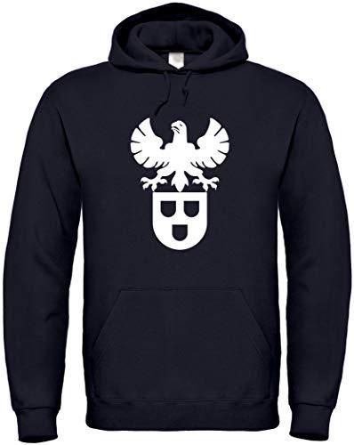 Textildruck Universum Hoodie Maler Zunftwappen S bis 5XL (Schwarz, 5XL)