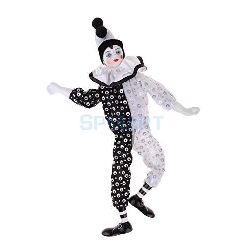 MMI-LX LYRONG 38 cm 38,1 cm Niedliche Porzellan-Füße zum Aufhängen Harlekin-Puppe Zirkusrequisiten Festival Home Office Dekoration (Größe : Einheitsgröße)