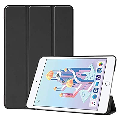 QGM ipad Tablet Case compatible with 10.2-Inch 2020/2019 Model 8th / 7th Generation Black Color