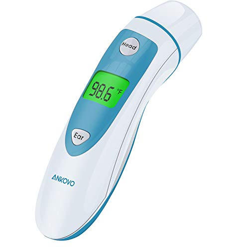 LFJNET Home Electronic Digital Ear Forehead Infrared Thermometer for Baby Kids Blue