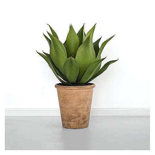 jinyi2016SHOP Plantas Artificiales Agave Artificial en Maceta Las Plantas suculentas de Interior Moderno, Verde Decoración Falsos Plantas en macetas for el hogar, Oficina - 2.1 pies Planta Falsa