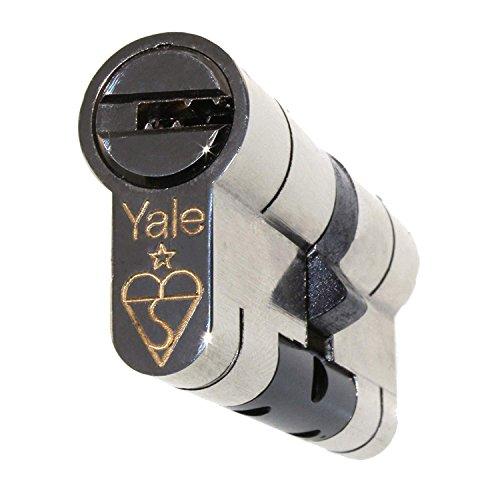 Yale - Serrure à cylindre européen 35/45 - Qualité supérieure - En nickel - Protection contre l'arrachage, les chocs, le crochetage, le perçage, les pinces - Composite uPVC - Haute sécurité - Avec 3 clés