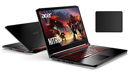 Acer Nitro 15.6' FHD IPS Gaming Laptop Bundle Woov Mouse Pad | Intel Quad-Core i7-9750H | 32GB RAM | 1TB SSD + 1TB HDD| NVIDIA GeForce RTX 2060 6GB | Backlit Keyboard | Windows 10 Home