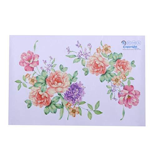 KATTERS Nuevas flores 3D pegatinas de pared hermosa peonía nevera pegatinas armario baño decoración vinilo calcomanías 2019