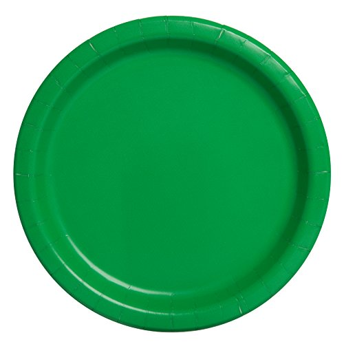 Unique Party 21.9 cm Party Teller, 16er Pack, Emerald Green