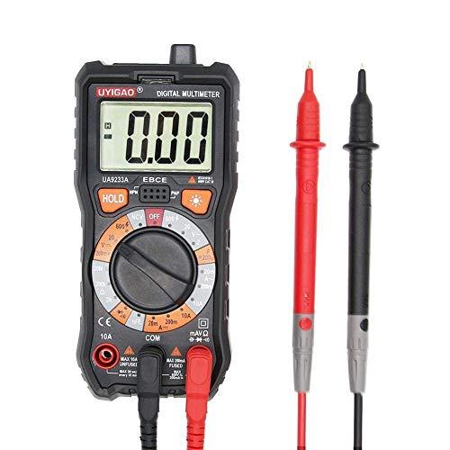 WY-YAN Pantalla LCD portátil Científico rango multímetro digital DC AC Tensión Corriente Resistencia multímetro digital probador universal eléctrica Medidor UA9233A Preciso