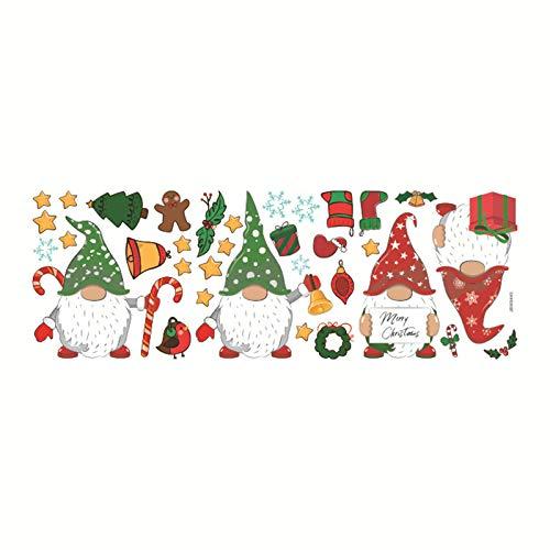 WDFVGEE Gnomo de Navidad para ventana, imán para nevera