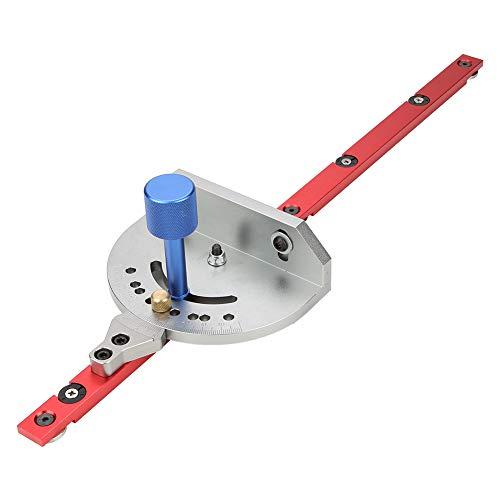 Equipo de ensamblaje de regla de sierra de mesa de calibre de inglete general con herramienta de carpintería de valla telescópica para carpintero Herramientas de corte de bricolaje