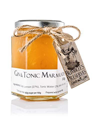 Bumblee's Glas Marmelade aus Gin und Tonic 1 Topf 330g Im Vereinigten Königreich handgemachte Marmelade Ohne Konservierungsstoffe oder künstliche Aromen