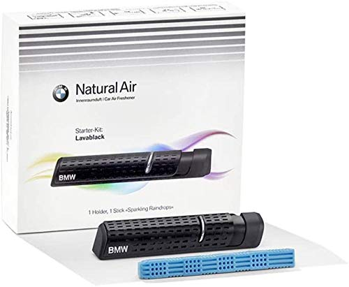 BMW Natural Air Innenraum Duft Starter-Kit Lavablack + Sparkling Raindrops