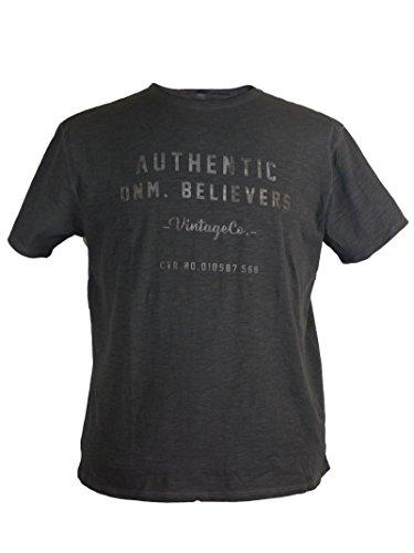 Modernes T-Shirt von Replika in schwarz, Größe:7XL
