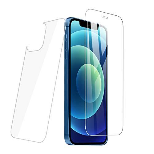 PaceBid 2 Pack (Anteriore e Posteriore) Vetro Temperato Compatibile con iPhone 12 Mini, [Anti-Graffi] [9H Durezza] [Anti-Impronta] Pellicola Protettiva per iPhone 12 Mini